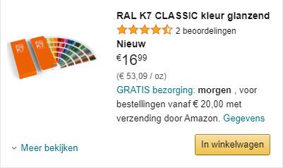 ral gamma krijgen van amazon.nl
